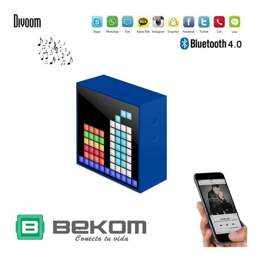 Parlante Bluetooth Portatil Divoom Timebox Mini Hf Oferta