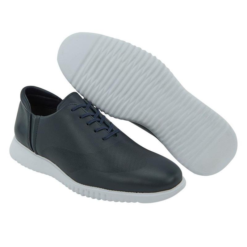 Sneakers Azul Marino Con Aguajetas 017661