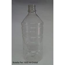Botella Pet Cristal 1 Lt Cristal C/tapa (100 Unid)