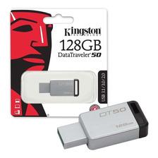 Pen Drive Kingston Dt50 128gb Usb 3.1 3.0 Metal 100% Origina
