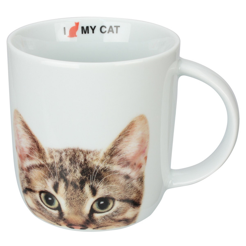 Caneca Porcelana 340ml I Love My Cat - Dynasty 7518177