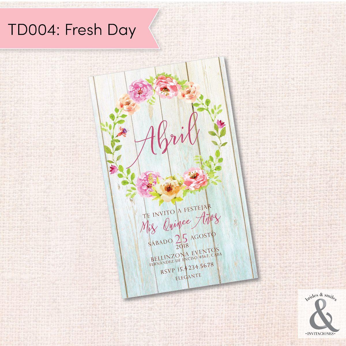 Invitación digital TD004 (Fresh Day)