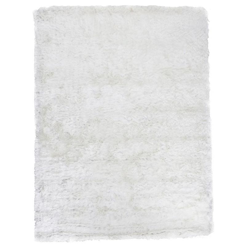 Tapete Gold Shaggy Cor 15 Branco 2,50X3,00 Branco- Edx Tapetes