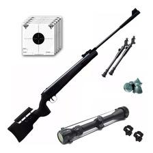 Rifle Aire Comprimido Fox Nitro Magnum Black Mira 4x40 Y Bip