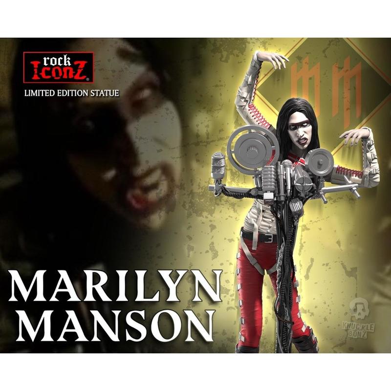 Estátua Marilyn Manson Knucklebonz - Rock Iconz Statue