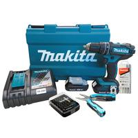 Parafusadeira/Furadeira à Bateria 18V DHP482RAE -P+Alicate+Bits+Brocas Makita