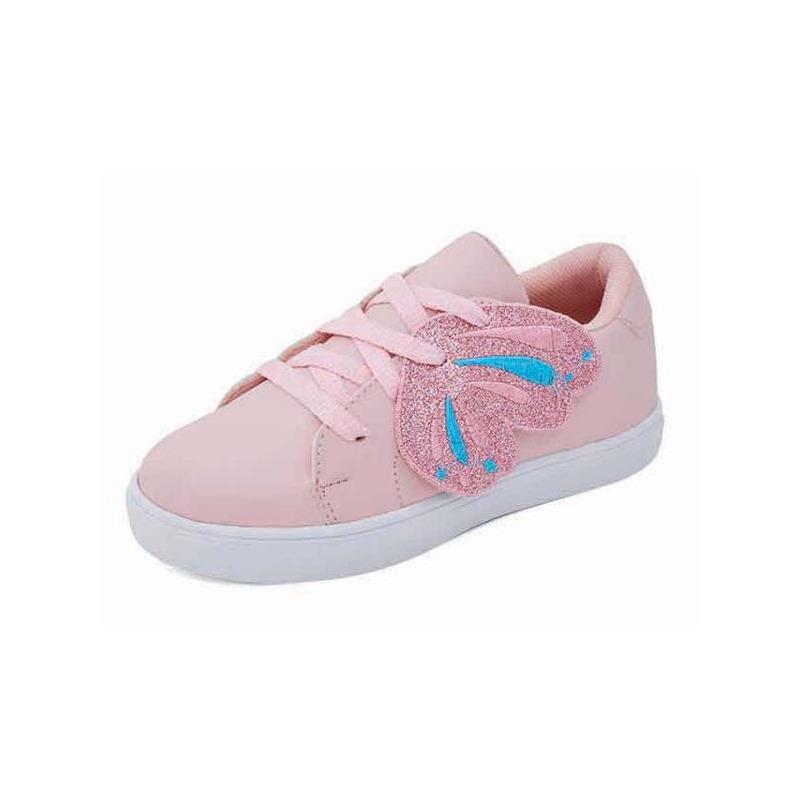Sneakers rosas con brillos 018227