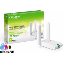 Placa De Red Wifi Usb 300mpbs Tp Link Wn822n 2 Antenas 2.4