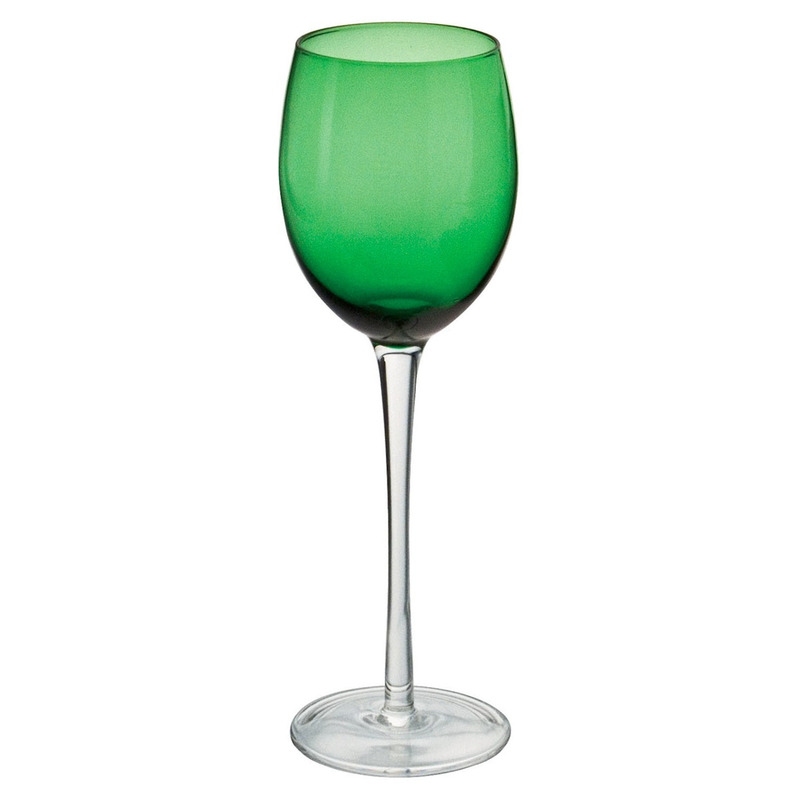 Jogo 6 Taças em Vidro para Vinho 300ml - Leda Verde Bon Gourmet