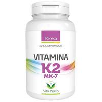 Vitamina K2 - MK7 60 comprimidos 65mcg - Vital Natus