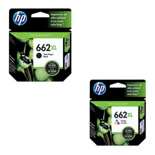 Combo Cartuchos Hp 662xl Negro+color Original Para 2515 3515