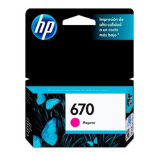 Cartucho Hp 670 Magenta Original P/ 3525 4625 5525