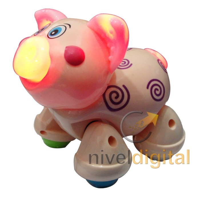 Chanchito Cerdito Musical Camina Mueve La Cabeza Luces