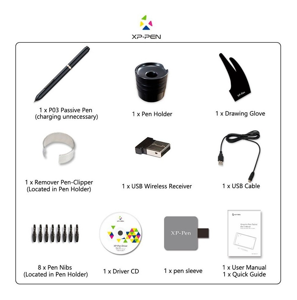 Tableta Gráfica Xp-pen Star 05 V2 Inalambrica 8 X 5
