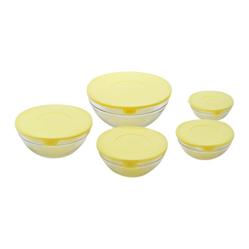 Jogo de 5 Bowls de Vidro Sortidos