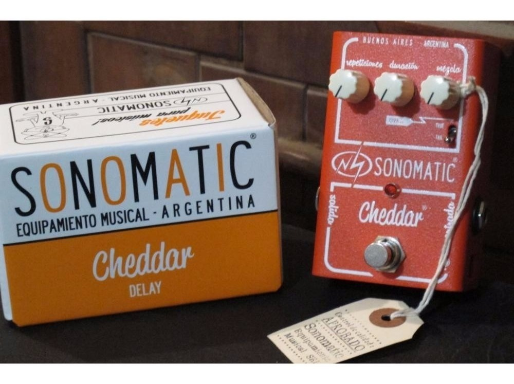 Pedal Sonobox Sonomatic Cheddar Delay - Grey Music -