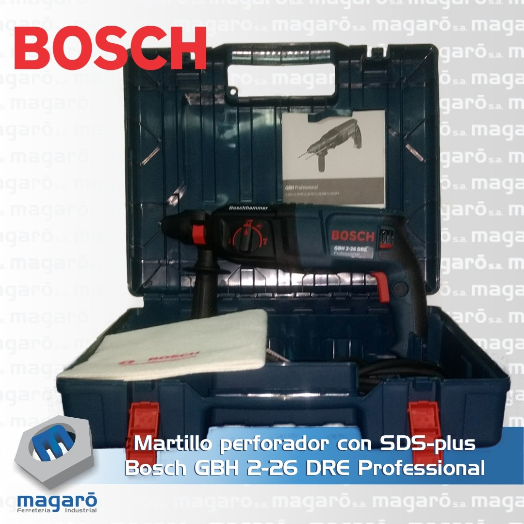 Martillo perforador con SDS-plus Bosch GBH 2-26 DRE Profe...