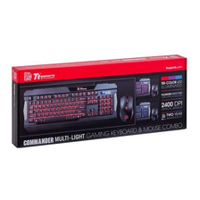 Combo Gamer Thermaltake Commander Multilight Rgb 2400 Dpi