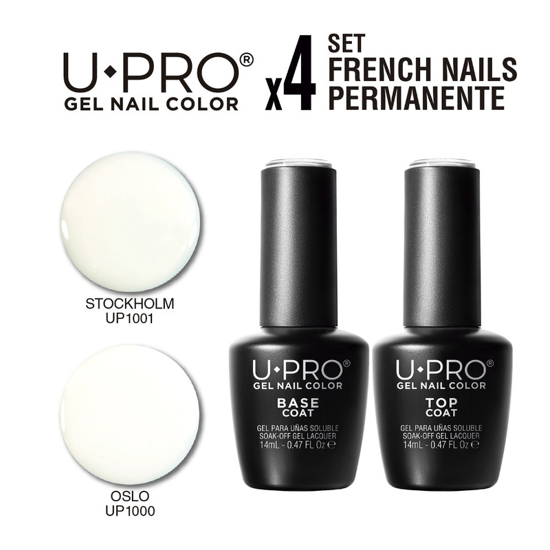 Kit U·PRO French Nails X4