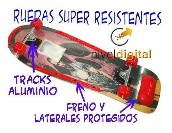 Skate Patineta Grande Tracks Aluminio Superficie Rugosa Niño