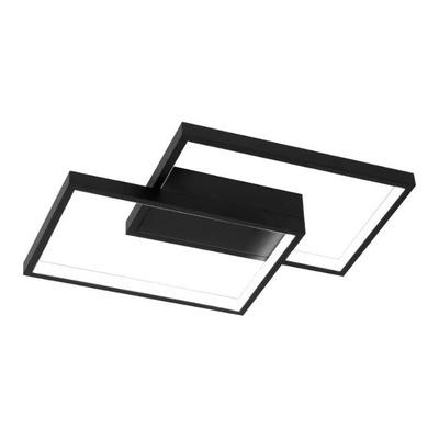 Plafon Led Rectangle Negro 34w Moderno Calidad Premium Gmg