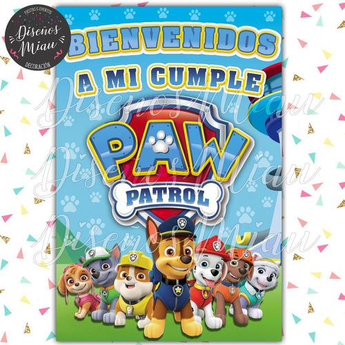 10 Invitaciones Tarjeta Cumpleañs Patrulla Canina Paw Patrol