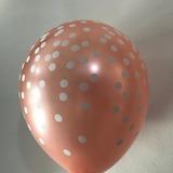 globo rose gold lunares desinflado apto helio
