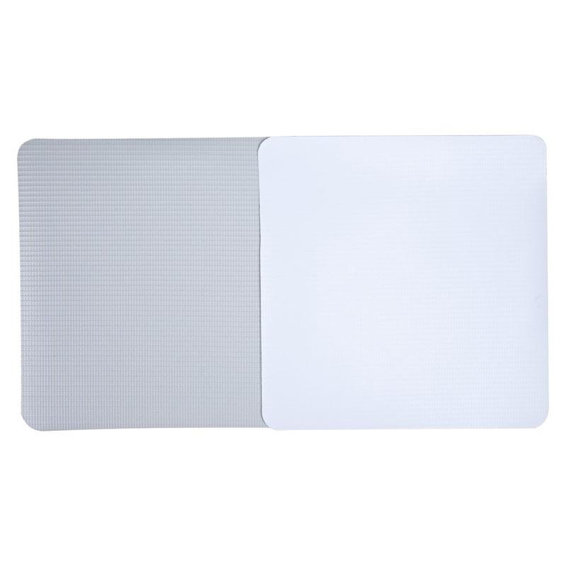 Lona pvc para frontlight Superfront branca  fosca avesso cinza (440 g) larg 1,80 m