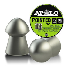 Balines Apolo Pointed 4.5 X500 Lata Rifle Aire Comprimido