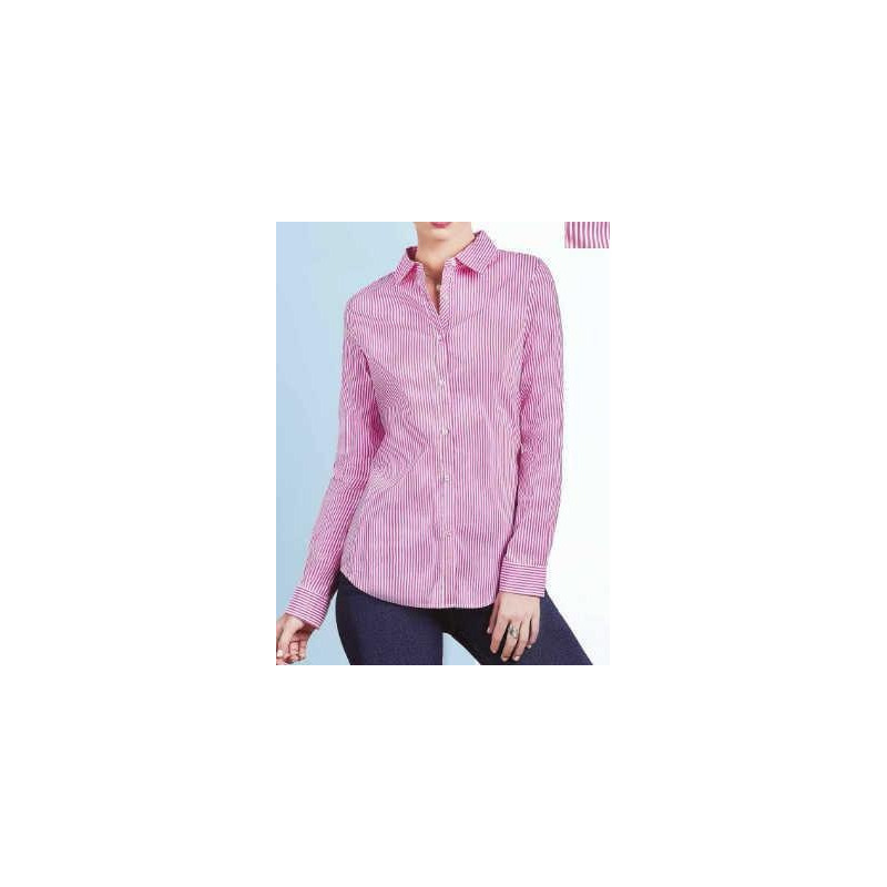 Blusa rosa multicolor a rayas 015193