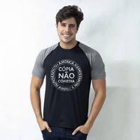 CAMISETA RAGLAN PRETA - CÓPIA NÃO COMÉDIA