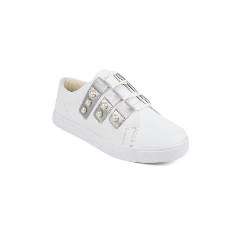 Sneakers blancos con perla 015857