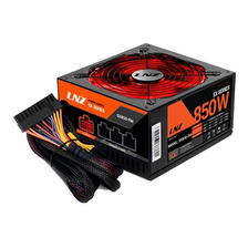 Fuente Lnz 850w Zx850-ls Modular Gamer Pc 140mm Led Rojo