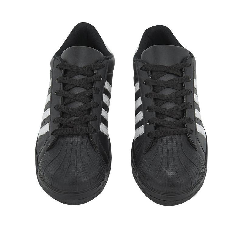 Sneakers Negros Con Lineas Blancas 017605