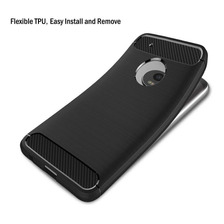 Funda Tpu Simil Carbono Moto G5s G6 Plus Play + Templado