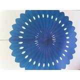 Abanico de papel Azul Francia