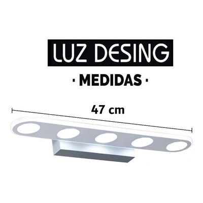 Aplique Pared Luz Led 15w Acero Cromo Calidad Premium Tz