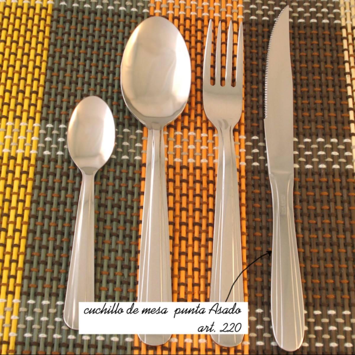 Cuchillos de mesa punta asado acero inoxidable 10 docenas