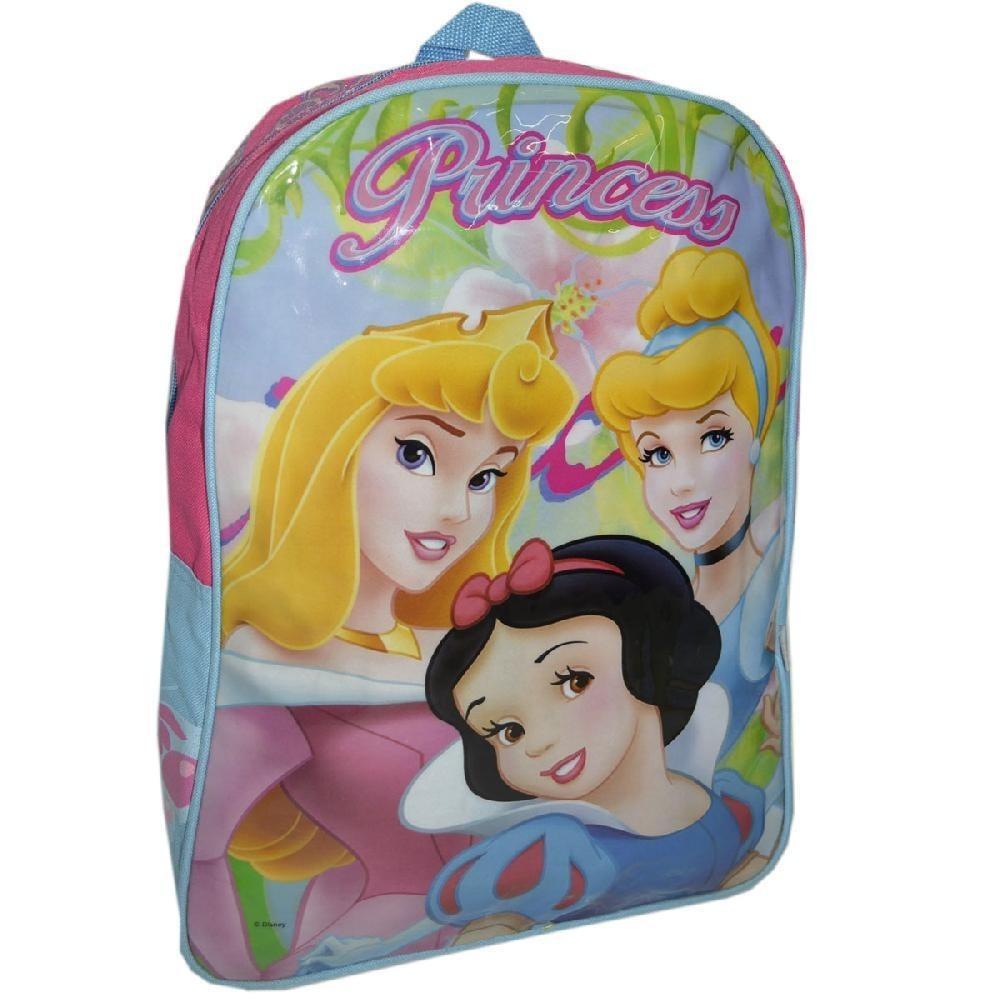 Mochila Princesas Disney Wabro Fucsia Glitter Original