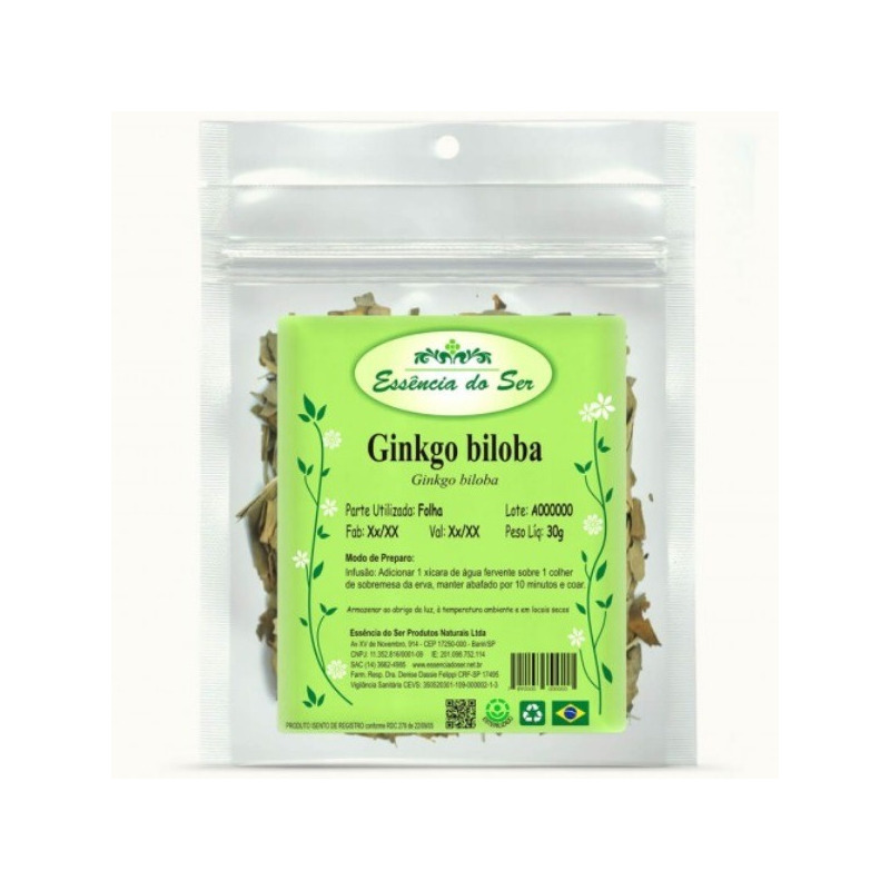 Cha de Ginkgo Biloba - Kit 3 x 30g - Essencia do Ser