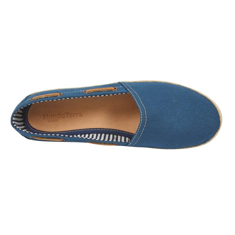 Alpargata azul con cinta 016624