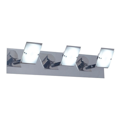 Aplique 3 Luces Swing Led 21w Diseño Moderno Movil Cromado