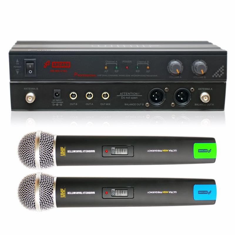 MICROFONE SEM FIO ARCANO UHF  AR-WX-2145