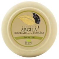 Sabonete Redondo Argila Dourada Copaiba - 110g - Dermaclean