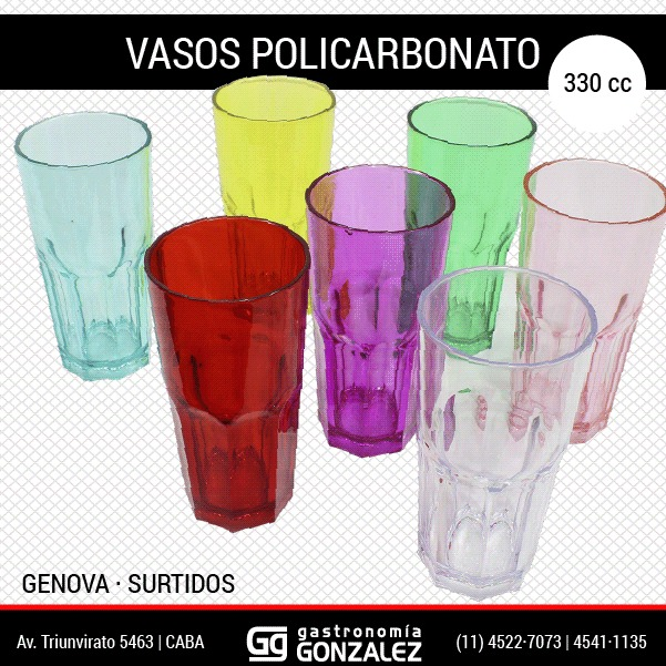 Vasos de policarbonato Génova