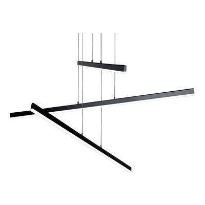 Lampara Colgante Liston Negro Led 48w Deco Moderno Gmg