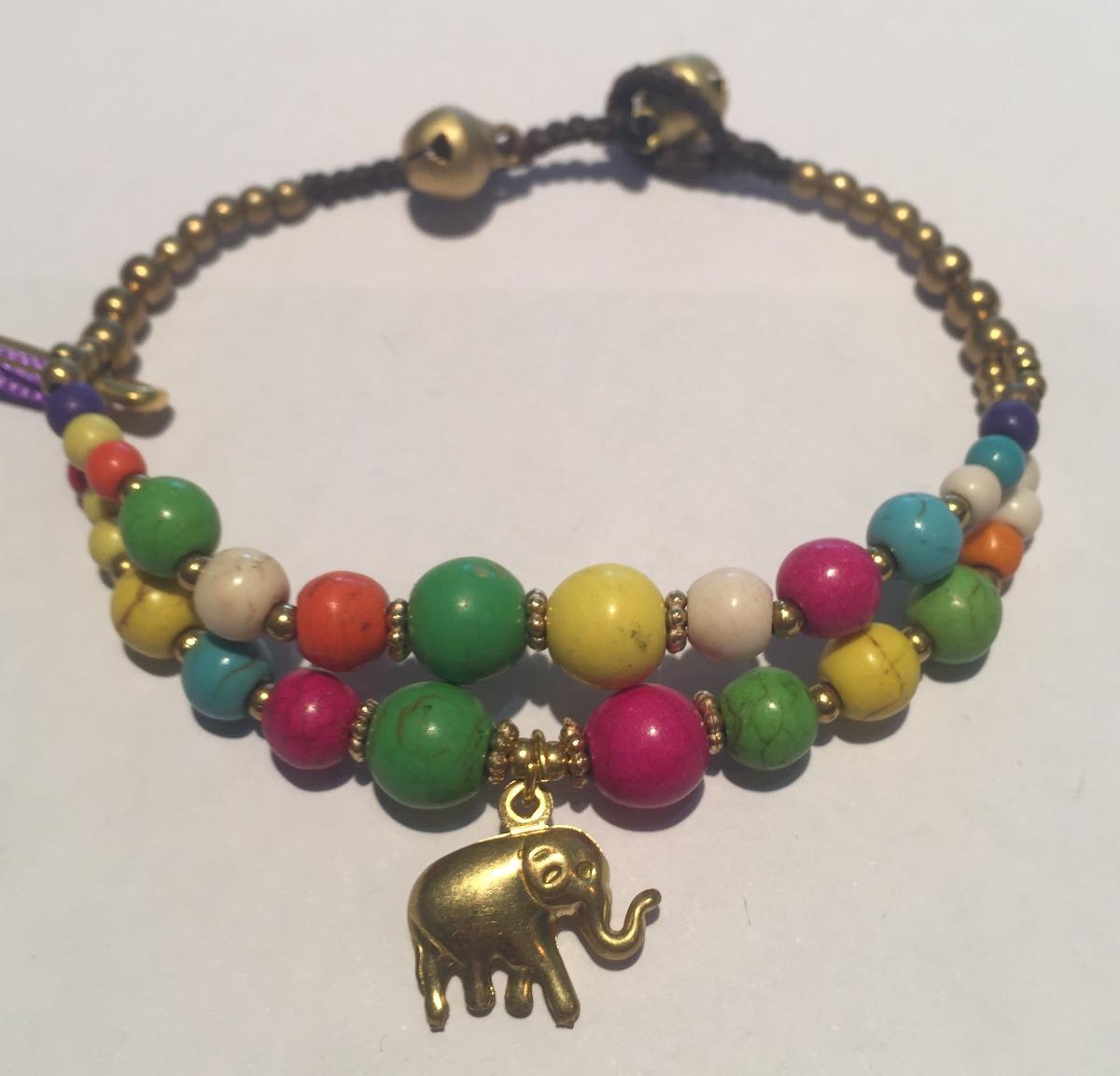 Pulseras Hindúes Elefantes Violetas Para Violeta