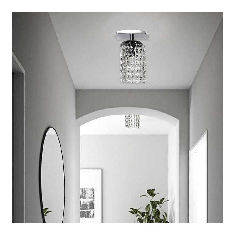 Araña Plafon Cairel Cromado Lyon 1 Luz Deco Moderno Apto Led