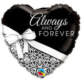 globo casamiento always and forever 45cm apto helio