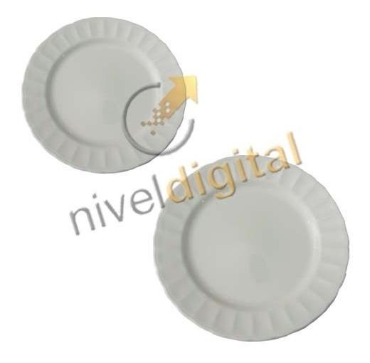 Juego Vajilla 12 Piezas Corona Caribe Porcelana Platos Fino